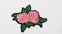Аппликация (термо) розы  розов. 7,8х6,3 см