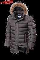 Куртка зимняя мужская на меху удлиненная Braggart Aggressive -  2372F сафари