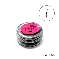 Ресницы в банках ESB-C-06 (диаметр: 0,20 мм, длина: 10 мм),
