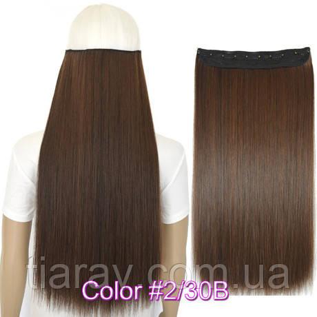 Волосся на заколках 60 см прямі. тресс, накладні волосся