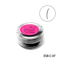 Ресницы в банках ESB-C-07 (диаметр: 0,20 мм, длина: 12 мм),