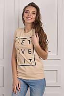 Женская футболка с надписями p.44 S1141