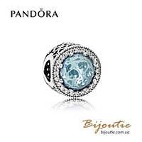 Шарм Pandora НЕЖНО-ГОЛУБЫЕ СИЯЮЩИЕ СЕРДЦА #791725NGL серебро 925 Пандора оригинал