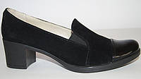 Женские замшевые туфли на устойчивом каблуке