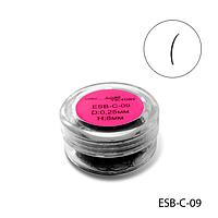 Ресницы в банках ESB-C-09 (диаметр: 0,25 мм, длина: 8 мм),