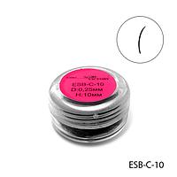 Ресницы в банках ESB-C-10 (диаметр: 0,25 мм, длина: 10 мм),
