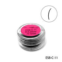 Ресницы в банках ESB-C-11 (диаметр: 0,25 мм, длина: 12 мм),