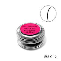 Ресницы в банках ESB-C-12 (диаметр: 0,25 мм, длина: 15 мм),
