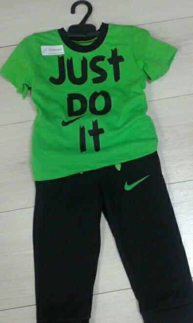 """Костюм для мальчика """"Найк"""" ярко-зеленый+черный, размеры 2-3 года найк3"""