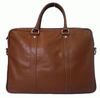 Кожаная мужская сумка-портфель коричневая,   Katana K69261-3