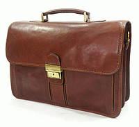 Солидный мужской портфель из натуральной кожи, коричневый Katana K31004-3