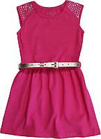 Платье детское нарядное с пайетками и ремешком  ТМ Фламинго размер 122 128 134 140