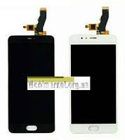 Дисплейний модуль (дисплей + сенсор) для Meizu M5S білий