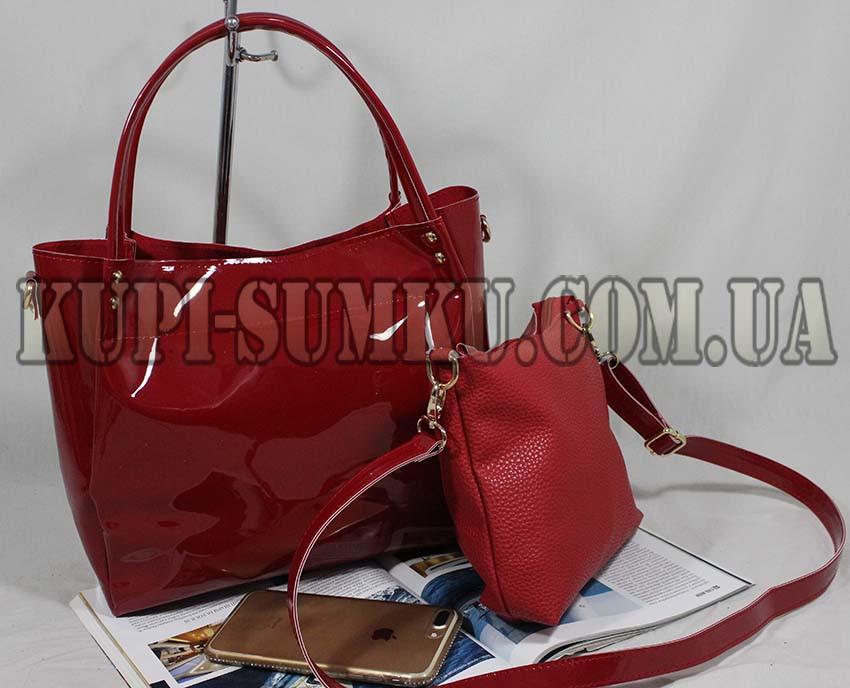 df46f94f0dc5 Красная лаковая сумка 2-в-1, цена 440 грн., купить в Харькове — Prom.ua  (ID#552572403)