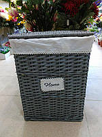 Набор корзин для белья, серый, 2 шт, лоза, 48x36x59см