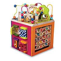 Развивающая деревянная игрушка - ЗОО-КУБ для детей от 1 года (Размер 34х30х45 см) ТМ Battat BX1004X