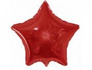 Воздушный шарик  из фольги разные виды звезда, красный
