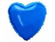 Воздушный шарик  из фольги разные виды сердце, синий