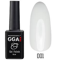 Гель-лак GGA Professional №1 Classic White 10 мл. Гель лак купить в Украине.