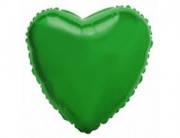 Воздушный шарик  из фольги разные виды сердце, зеленый