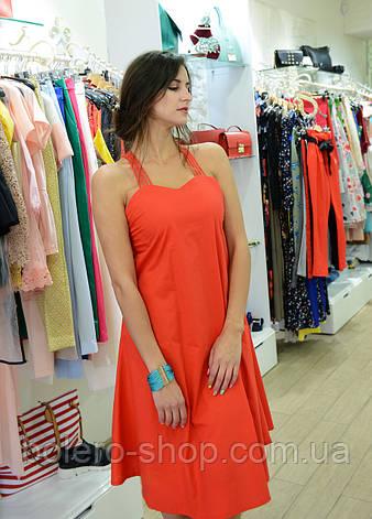 Женское платье летнее  красное  брендовое Италия , фото 2