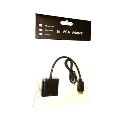 Адаптер-преобразователь CableHQ HDMI to VGA, HDMI в VGA
