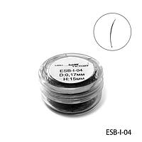 Ресницы в банках ESB-I-04 (диаметр: 0,17 мм, длина: 15 мм),