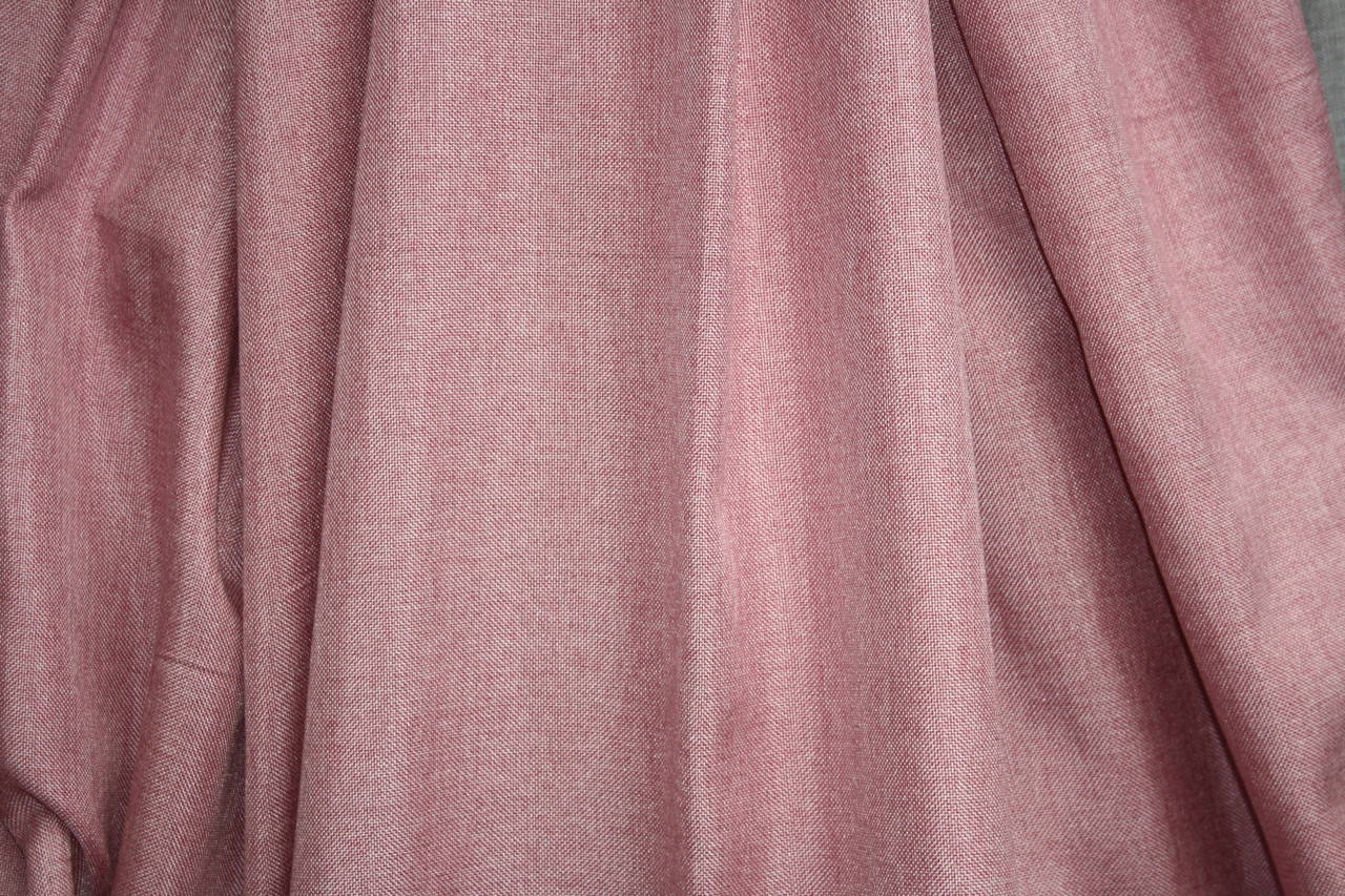 Шторы льняные розового цвета