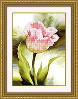 """Наборы для рисования камнями 5D (частичная выкладка на холсте) """"Розовый цветок"""" LasKo 5D-010"""