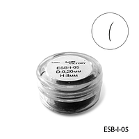 Ресницы в банках ESB-I-05 (диаметр: 0,20 мм, длина: 8 мм),