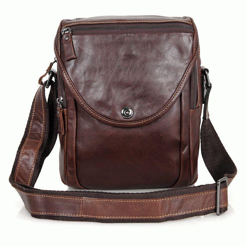 c2d7223b249d Кожаная мужская сумка на плечо S.J.D. 7354LQ Коричневый - Цена ...