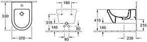 VILLEROY & BOCH OMNIA ARCHITECTURE биде подвесное 37*53см, фото 2