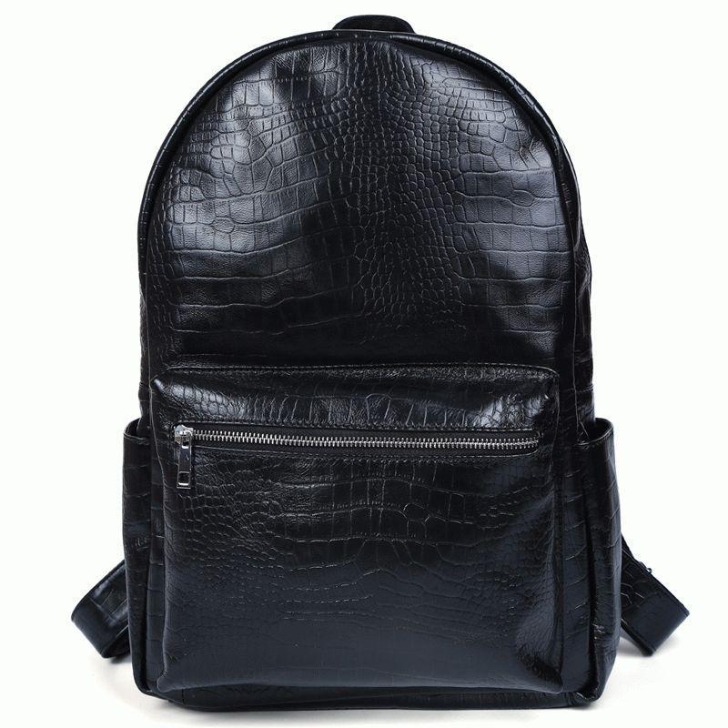 71fe28583d7e Современный и стильный кожаный рюкзак, t3123 Черный - Torba Super в Харькове