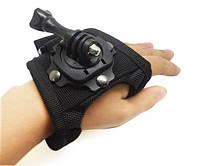 "Крепление GoPro размер S на кисть руки ""перчатка"" поворотное на 360 градусов"