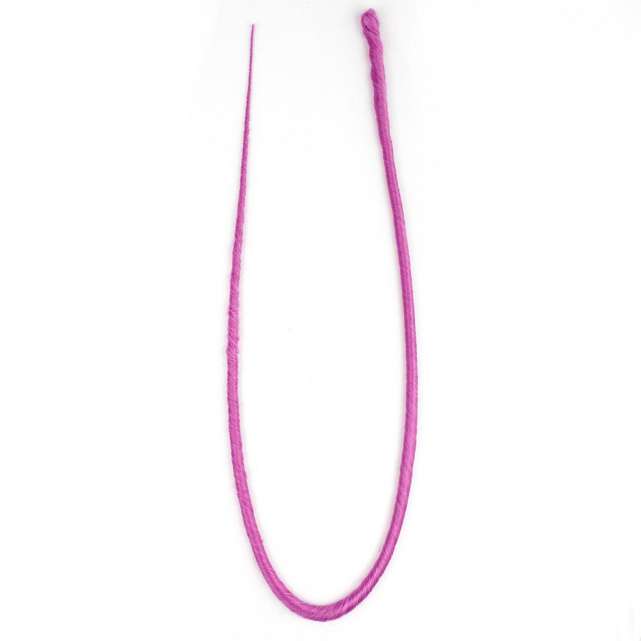 Дред единичный фиолетовый 60 см