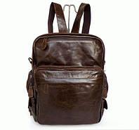 Мужской рюкзак натуральная кожа, коричневый S.J.D. 2685-3
