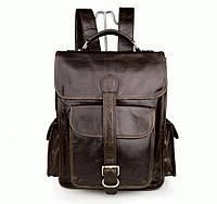 Мужской рюкзак натуральная кожа, коричневый  S.J.D. 7283C