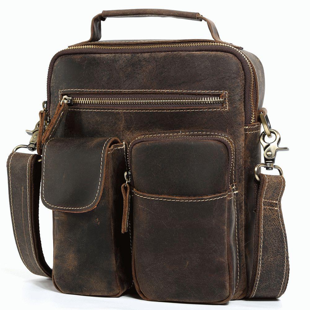 4a024aed4e70 Кожаная мужская сумка на плечо T.B. t1171 Коричневый - Цена, купить ...