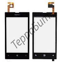 Тачскрин Nokia 520, 525 Lumia, цвет черный, маленькая микросхема
