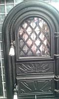 """Дверцы печные(дверки) со стеклом """"Арочные""""для печи и барбекю.В наличии.Актуальная"""