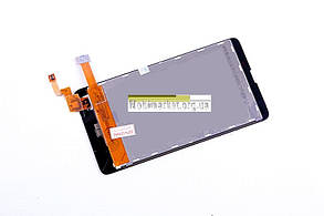 Модуль (дисплей+сенсор) для Nokia X Dual Sim RM-980 чорний, фото 3