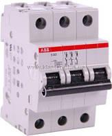 Автомат ABB S203-C6 3p 6A (C)