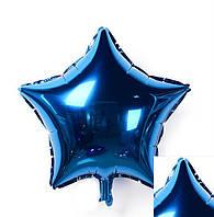 Надувной Воздушный шарик  из фольги, разные виды звезда, синий