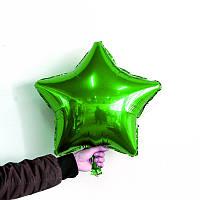 Надувной Воздушный шарик  из фольги, разные виды звезда, зеленый