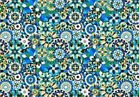 Ткань Калейдоскоп голубая
