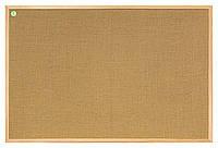 Доска 2х3 джутовая,деревянная рамка (сосна) 40x30 (TJ34/C)