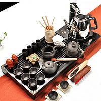 Набор китайской чайной церемонии керамический подарочный 34 предметов(с электрическим чайником) 9411