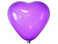 ВОЗДУШНЫЕ ШАРИКИ «СЕРДЦА ЛЮБВИ « 100 ШТ 15 см фиолетовый