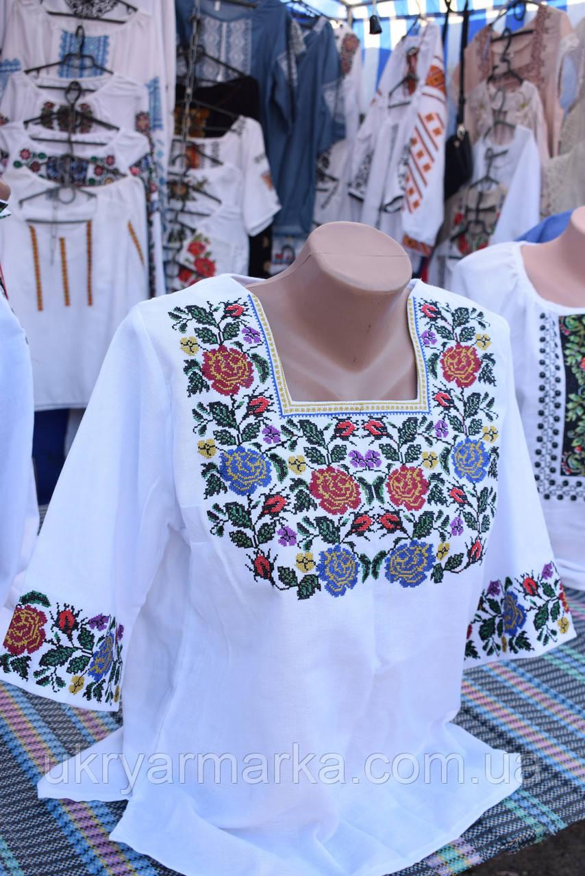 """Вишита жіноча сорочка """"Квіти надії"""""""