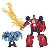 Трансформеры Hasbro Sideswipe & Decepticon Anvil Роботс-ин-Дисгайс Миниконы Бэтл-Пэкс (B4713-B4715)